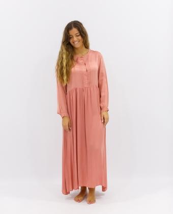 Vestido Comprido efeito Cetim