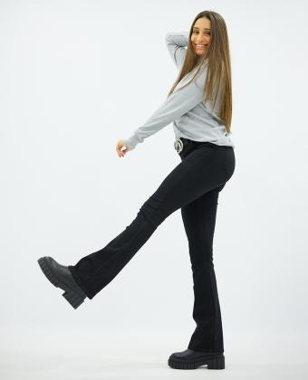 Jeans Hi-Rise Boca de sino