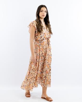 Vestido estampado comprido