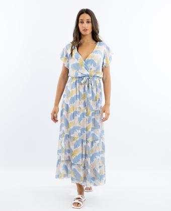 Vestido comprido estampado