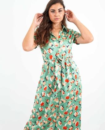 Vestido comprido com padrão