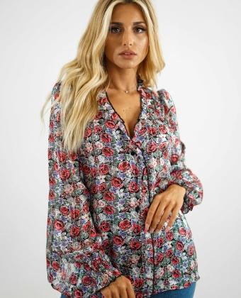 Blusa manga comprida com padrão