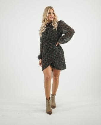Vestido curto com padrão